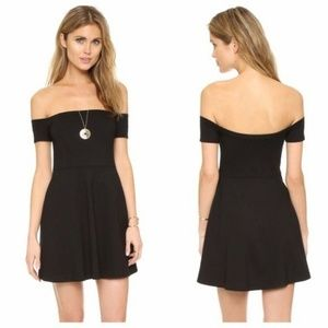 Free People Black Off the Shoulder Dress